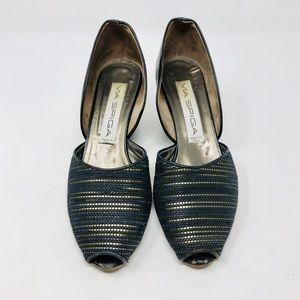 VIA SPIGA peep toe, wedge d'orsay shoes